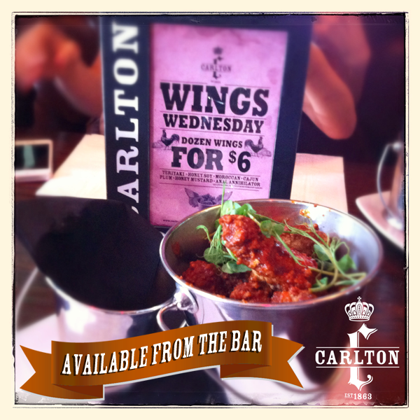 Wings Wednesday at Carlton